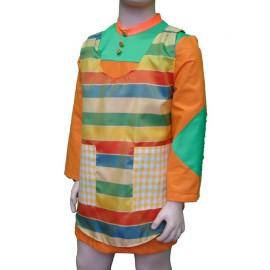 abito carnevale bambina costume pippi calzelunghe