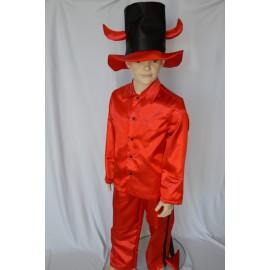 abito carnevale bambino costume halloween diavolo