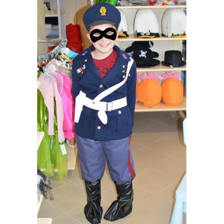 abito carnevale bambino costume polizia poliziotto