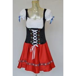 Carnival adult dress costume Bavarian Dirndl Kleid  Oktoberfest