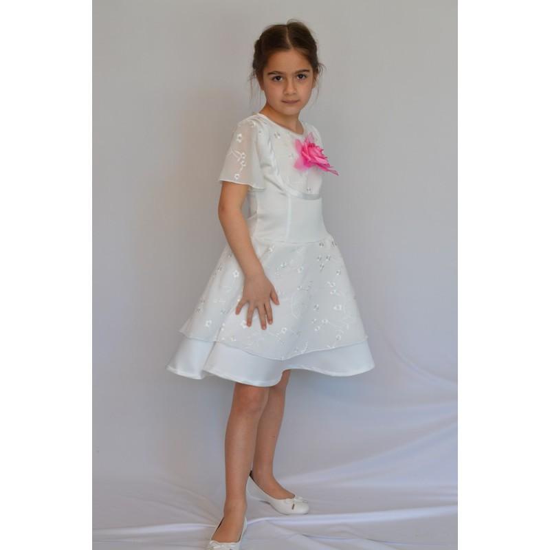 ... Abito cerimonia bambina bridal raso pizzo sangallo ... 5e727c4f7df