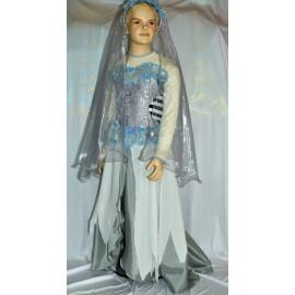 halloween abito bambina sposa cadavere