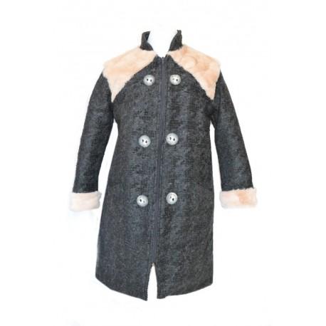 cappotto lana pelo bambina
