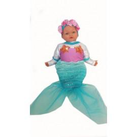 abito carnevale costume bambina bimba sirena