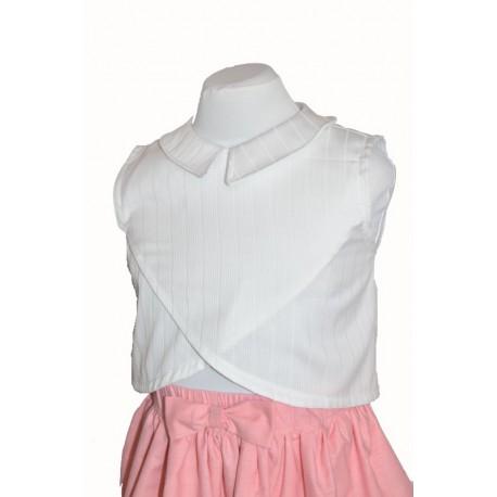 Camicia cotone bianca bambina abito