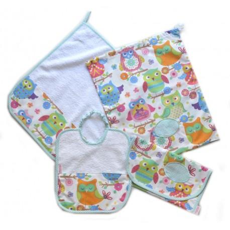 Asciugamani E Bavaglini Personalizzati.Set Asiloset Asilo Bavaglino Asciugamano Sacchetto Portabavaglino
