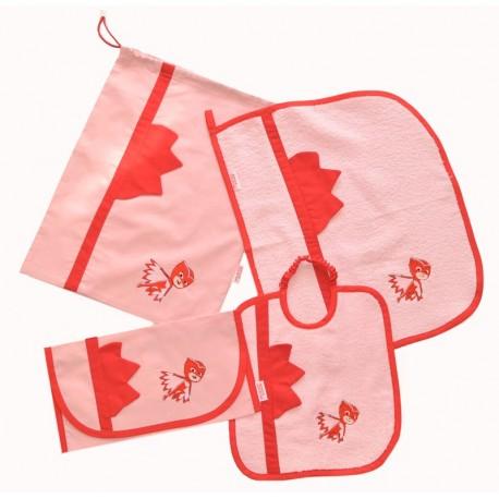 Asciugamani E Bavaglini Personalizzati.Set Asilo Bavaglino Asciugamano Sacchetto Portabavaglino Cotone