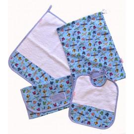 set asilo bambino puro cotone spugna bavaglino sacchetto portabavaglino asciugamano aerei