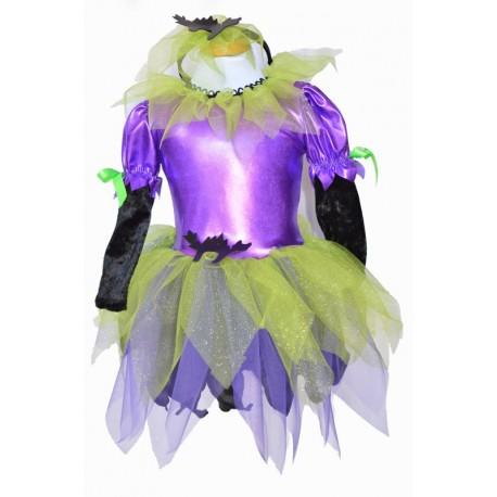costume abito halloween bambina strega ragno