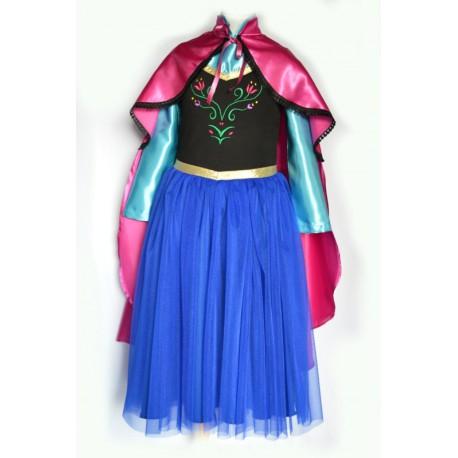 abito carnevale bambina costume anna frozen principessa