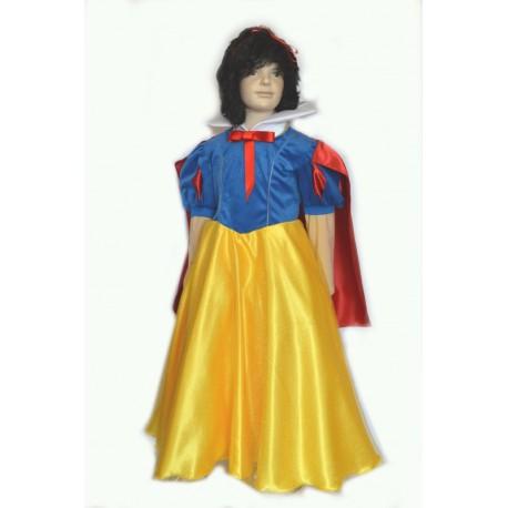 abito carnevale bambina costume principessa biancaneve