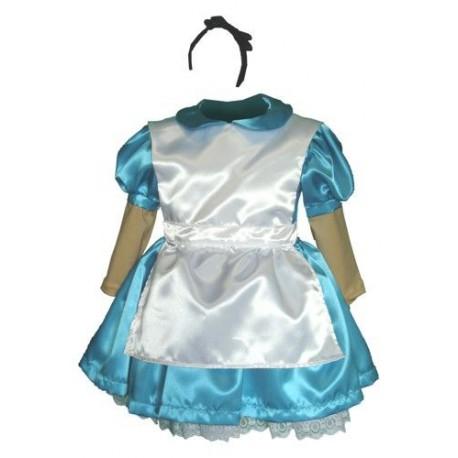 abito carnevale bambina costume alice nel paese delle meraviglie
