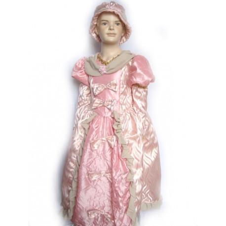 abito carnevale bambina costume dama principessa