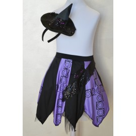 purple / black skirt