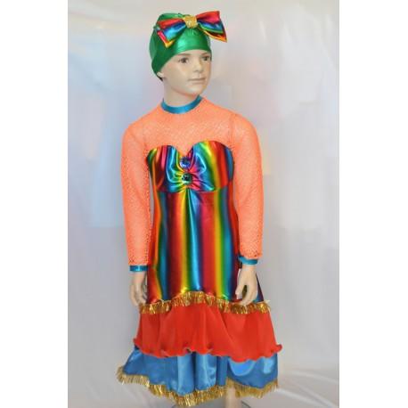 Abito carnevale bambina costume brasiliana rio