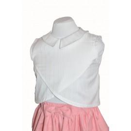 Camicia bambina cotone bianco