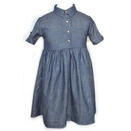 Baby girl jeans butterfly Dress