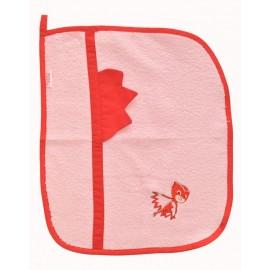 set asilo bavaglino asciugamano sacchetto portabavaglino cotone gufetta