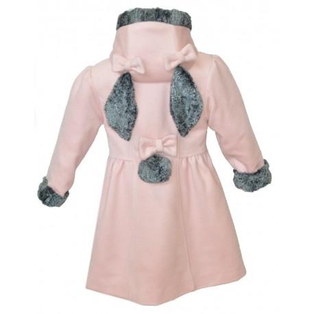 Cappotto capispalla bambina lana wool coat