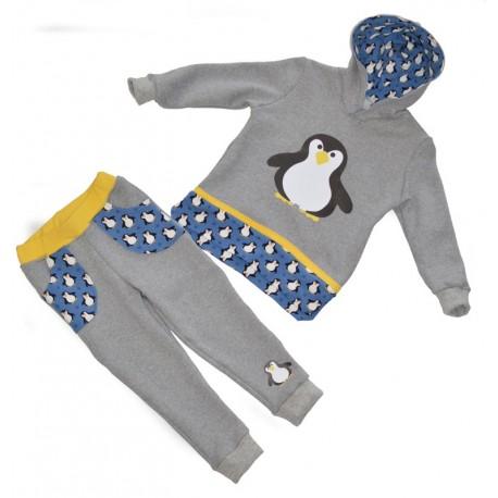 tuta felpa bambino pinguino