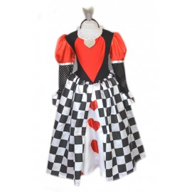carnival/halloween child dress costume queen of hearts