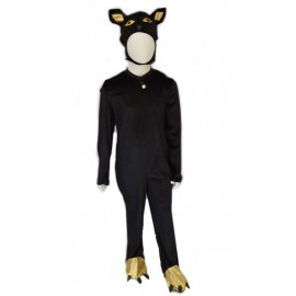 carnival dress child black cat deluxe