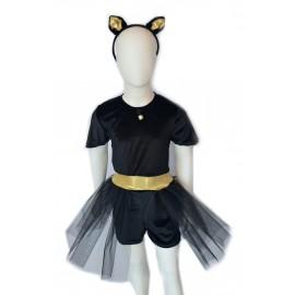 halloween child bride black cat