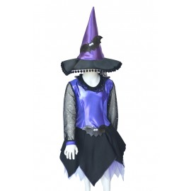 Carnival child dress halloween witch