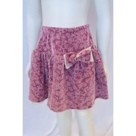 pink velvet dress girl
