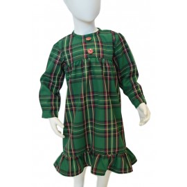green tartan girl dress