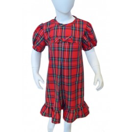red tartan dress