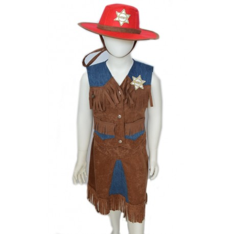 carnival child dress cowgirl