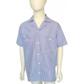 camicia manica corta a righe