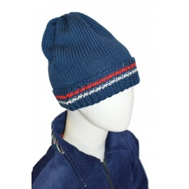 Cappello lana blu bambino