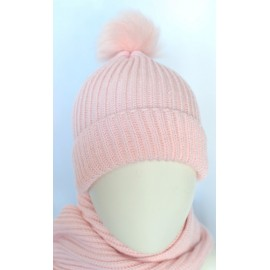 Pink girl wool cap