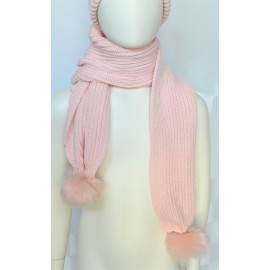 Pink girl wool scarf