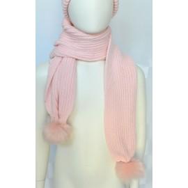 Sciarpa lana Bambina rosa