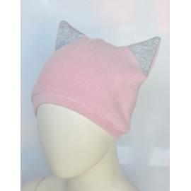 Pink girl pile cap