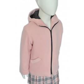 Cappotto rosa bambina Asia