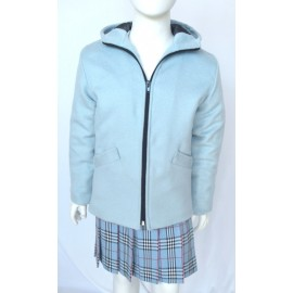 Asia Girl light blue Coat