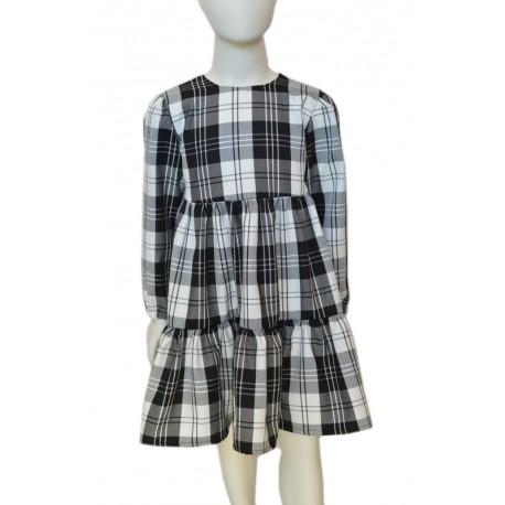 tartan winter girl dress