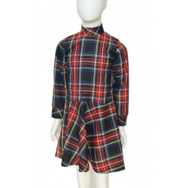 red/black Tartan girl dress