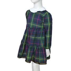 blue Tartan girl dress