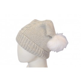 Beige Wool Cap