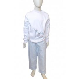 light blue dog pajamas