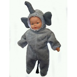 abito carnevale bambina costume elefante