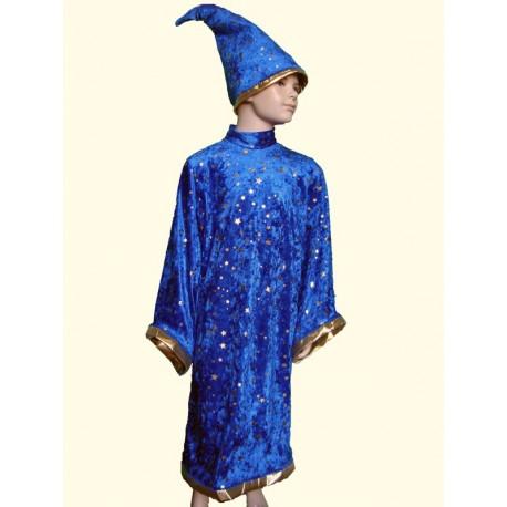 abito carnevale bambino costume mago merlino